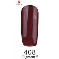 Гель-лак F.O.X. Pigment №408 шоколад, эмаль 6 ml