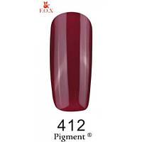 Гель-лак F.O.X. № 412 бордово-малиновый темный, эмаль, 6 ml