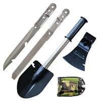 Туричтическая лопата 5 в 1, саперная лопата + Нож, Топор, Пила, Открывашка, товары для туризма
