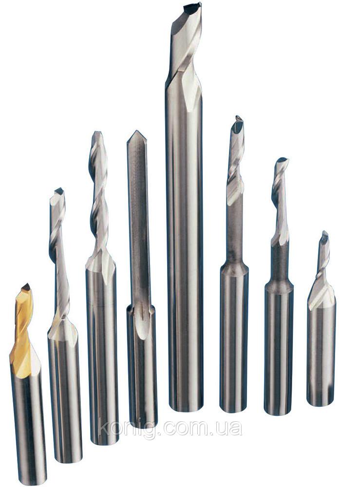 Одноканальні пальчикові фрези для алюмінію і ПВХ профілю