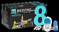 Иголки для инсулиновых шприц-ручек Wellion 8мм №100