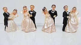 Свадебные фигурки на торт. Высота:5 см. В упак: 12 шт.