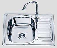 Кухонная мойка 6350 см врезная Sofia металл 0,8 мм матовая (сатин) глубина 18 см