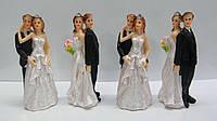 Свадебные фигурки на торт. Высота:10 см. В упак: 4 шт.