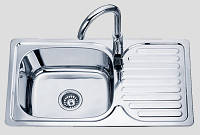 Кухонная мойка 76*42 см врезная Sofia металл 0,8 мм декорированная глубина 18 см