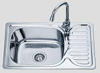 Кухонная мойка 6642 см врезная Sofia металл 0,8 мм сатин глубина 18 см