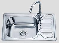 Кухонная мойка 66*42 см врезная Sofia металл 0,8 мм декорированная глубина 18 см