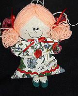 """Елочная кукла ручной работы """"Цветочный ангел"""", (розовые волосы), 20 см., 95/85 (цена за 1 шт. + 10 гр.)"""