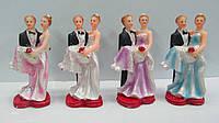 Свадебные фигурки на торт. Высота: 8,5 см. В упак: 4 шт.