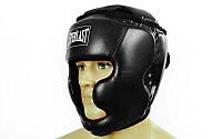 Шлем боксерский с полной защитой PU ELAST (черный, р-р S-L)
