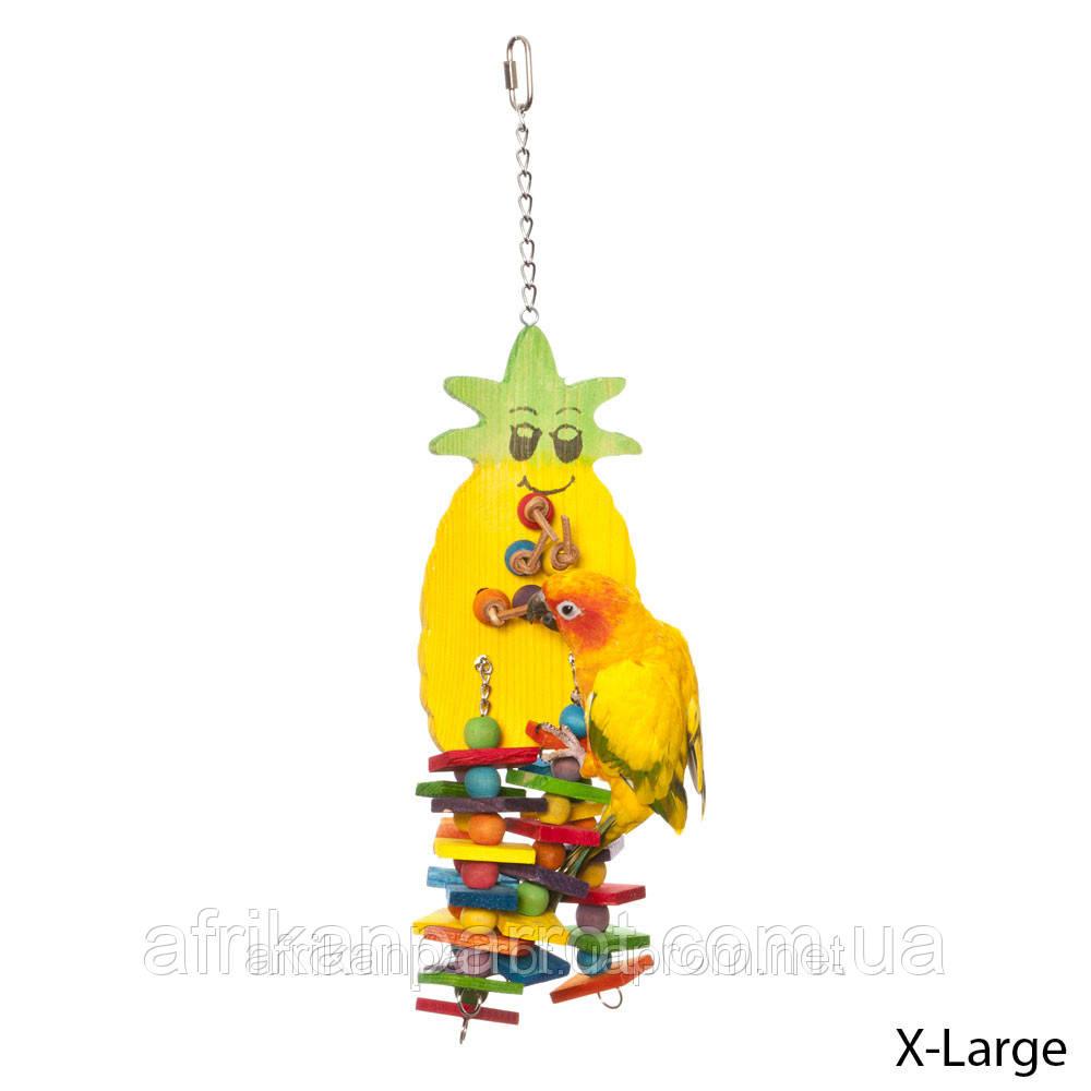 Высококачественные игрушки для попугаев (Ананас), фото 1
