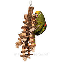 Игрушка для попугая «Пеньки и веревки»