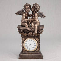 """Красивые настольные часы """"Секреты ангелов"""" 20 см оригинальный подарок на 14 февраля"""