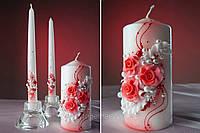 """Свадебные свечи """"Красные розы"""""""
