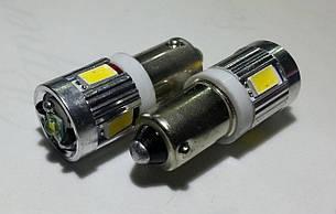 Светодиодная автолампа BA9S 4 5630+3w Cree CANBUS белого цвета свечения (~250Lm)