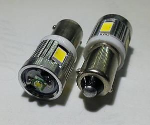 Светодиодная автолампа BAХ9S 4 5630+3w Cree CANBUS белого цвета свечения (~250Lm)