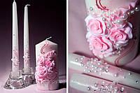 """Свадебные свечи """"Розовые розы"""""""