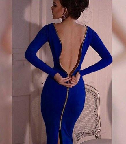 Женское платье с молнией на спине