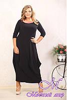 Длинное женское платье батальных размеров р. 48-90 арт. Тюльпан