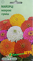 "Семена цветов Цинния(майоры) изящная махровая смесь, однолетнее 0,3 г, "" Елітсортнасіння"",  Украина"