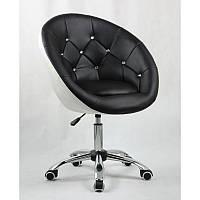 Кресло косметическое  HC-8516K черно- белий