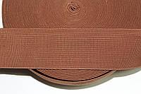 Резинка декоративная 60мм. св.коричневый , фото 1
