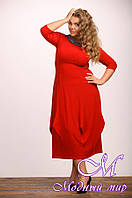 Женское красное платье для полных (р. 48-90) арт. Тюльпан