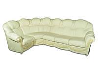 Угловой кожаный диван - Мальта Натуральная кожа, 380см - 210см