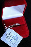 Кольцо серебро 925 проба 16.5 размер с цирконом