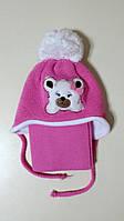 Зимняя шапка на флисе с шарфом Magrof для девочки