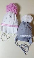 Зимняя шапка с шарфом AGBO 567, для девочки