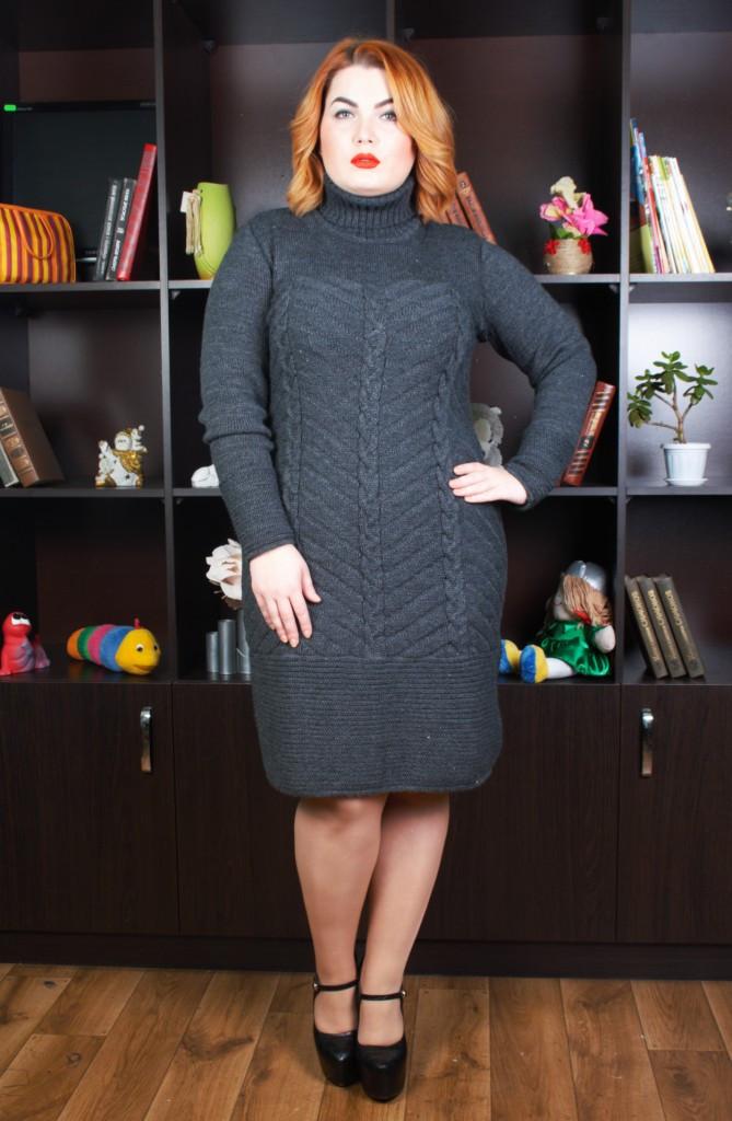 вязаные платья большой размер ника 48 58 цена 420 грн купить в