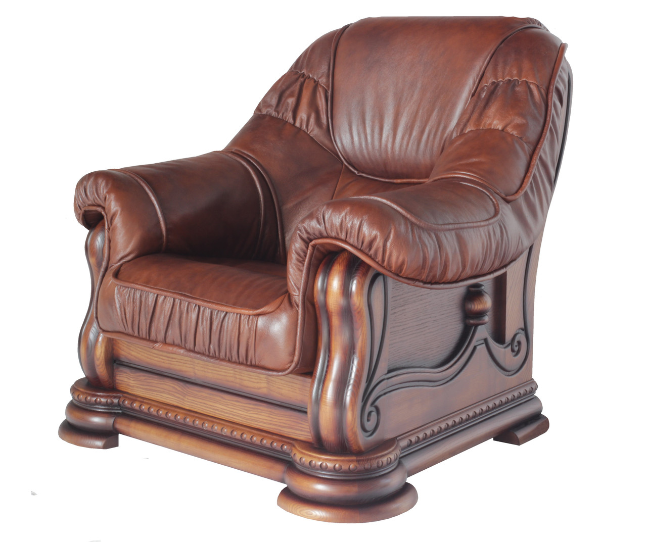 "Класичне шкіряне крісло ""Grizly lite"" (Грізлі лайт)"