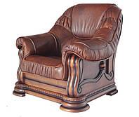 """Классическое кожаное кресло """"Grizly"""" (Гризли) (98 см)"""