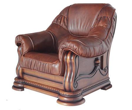 """Класичне шкіряне крісло """"Grizly lite"""" (Грізлі лайт), фото 2"""