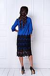 Женское праздничное прямое платье с кружевом (6 цветов), фото 5