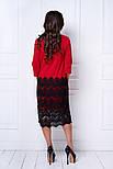 Женское праздничное прямое платье с кружевом (6 цветов), фото 7