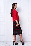 Женское праздничное прямое платье с кружевом (6 цветов), фото 8