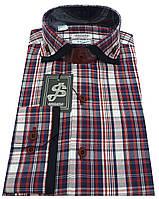 Рубашка мужская в клетку № S 41.6