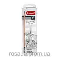Набор графитовых карандашей EXPRESSION, 6шт., мет.коробка, Bruynzeel