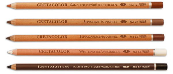Набор карандашей для рисунка чёрный 3 шт..Cretacolor