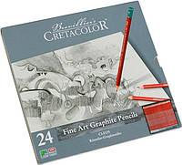 Набор графитных карндашей Cleos 24шт. мет упаковка Cretacolor