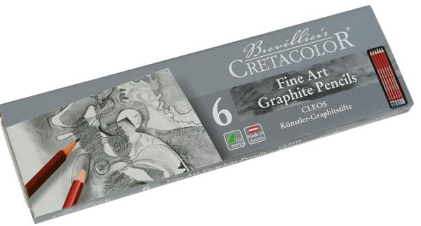 Набір графітних олівців Cleos 6шт. мет упаковка Cretacolor