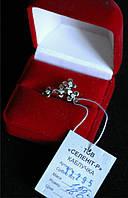 Кольцо Букет  серебро 925 проба 16  размер с цирконами