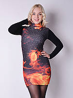 Женское платье с принтом 3D7