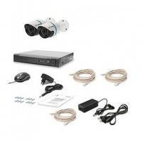 Комплект видеонаблюдения из 2-х уличных видеокамер Tecsar IP 2OUT