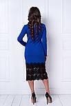 Женское праздничное платье с дорогим кружевом (3 расцветки), фото 2