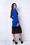 Женское праздничное платье с дорогим кружевом (3 расцветки), фото 3