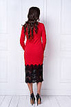 Женское праздничное платье с дорогим кружевом (3 расцветки), фото 6