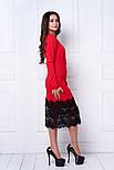 Женское праздничное платье с дорогим кружевом (3 расцветки), фото 7